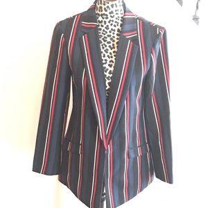 INC Intl Concepts Red White & Blue Blazer Jacket